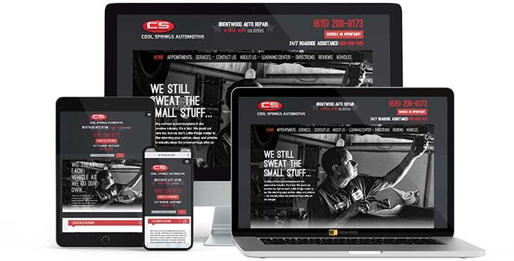 Cool Springs Automotive Website by MojoMediaPros, Inc.