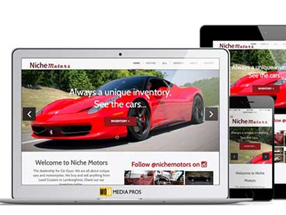 Niche Motors Website by MojoMediaPros Inc