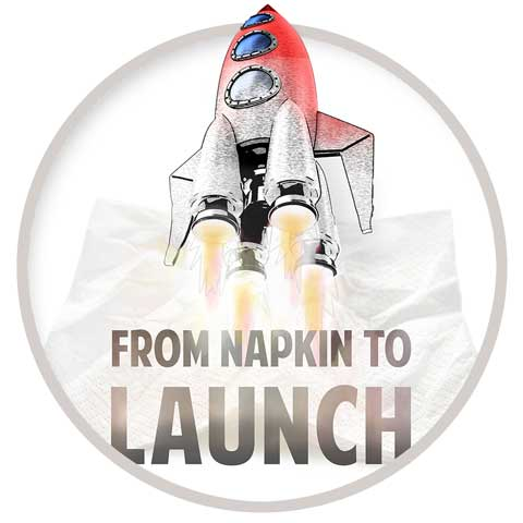 Napkin to Launch rocket