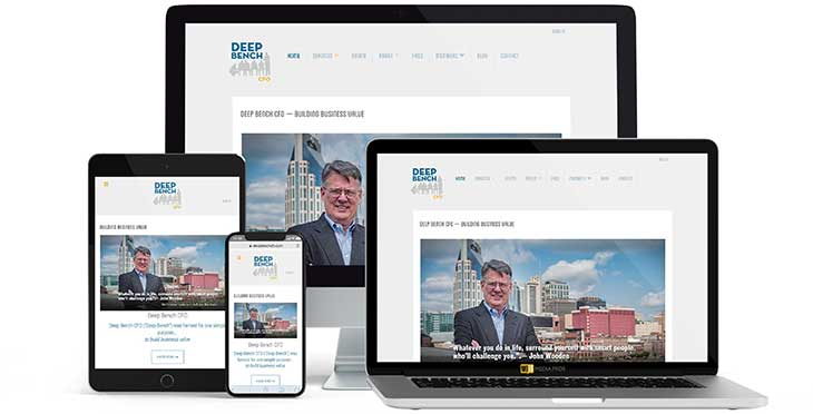 Deep Bench CFO Website by MojoMediaPros Inc